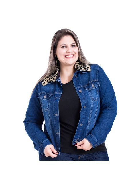 jaqueta jeans plus size