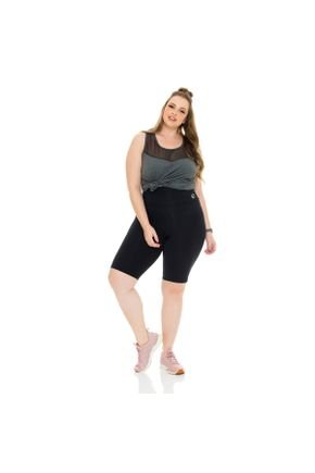 bermuda e regata plus size fitness